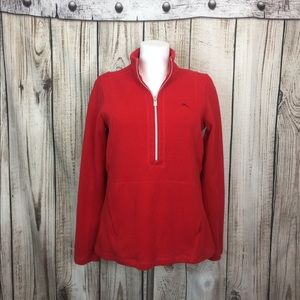 Tommy Bahama Red Pullover Sweater Jacket SP